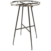 36 inch Round Rack - black with chrome Ring