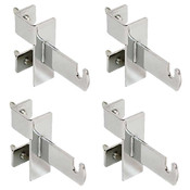 Grid Clamp Kit for Dbl Bar Box Racks, Chrome