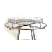 "30"" round rack grid basket topper - chrome"