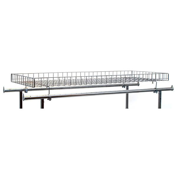 Double rail rack grid basket topper