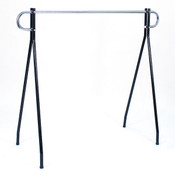 "Black beauty clothing racks 48""high x 60"" long - black/chrome hang bar"
