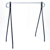 "Black beauty clothing racks 54""high x 60"" long - black/chrome hang bar"