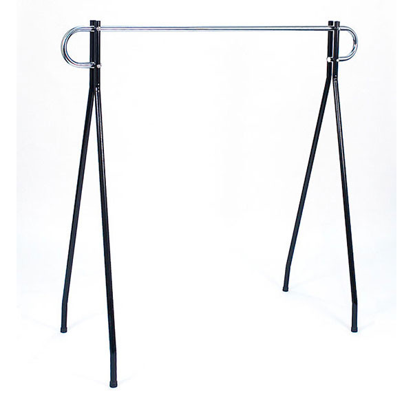 "Black beauty clothing racks 64""high x 60"" long - black/chrome hang bar"
