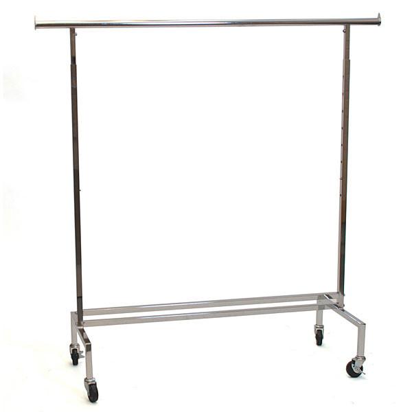 Rolling rack square tube - chrome
