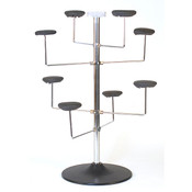 "Millinery rack holds 8 hats counter top 20""diameter x 29""high - chrome"