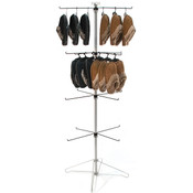 Wire spinner rack 4 tiers with 4 hooks and sign clip