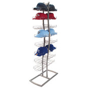 Cap Floor Rack - Two Sided - Silver
