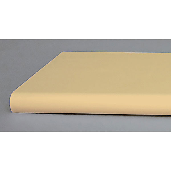 "Bullnose shelf 13""x48"" - almond"
