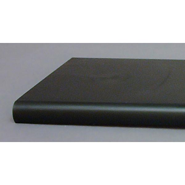 "Bullnose shelf 13""x24"" - black"
