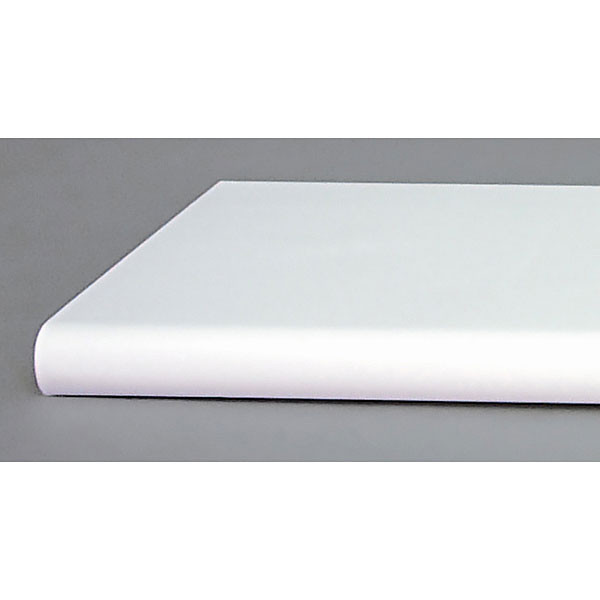 "Bullnose shelf 13""x48"" - white"