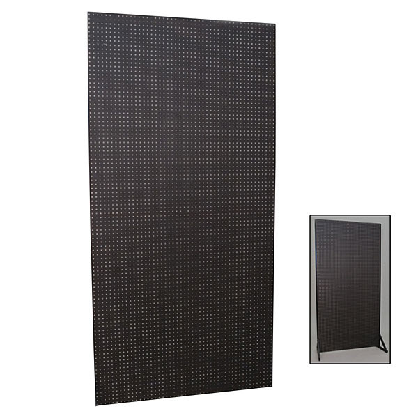 Modular pegboard wall unit 4'x8' - black