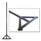 "Upright for 4'x8'modular wall unit 96"" - black"