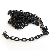 "Plastic chain 1"" - black 9'/bag"