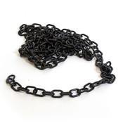 "Plastic chain 1"" - black 9'/bag"