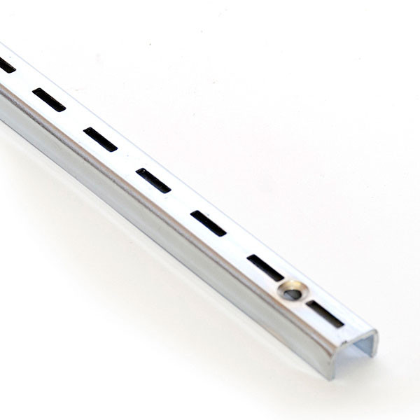 "Single slotted standard 6' long 1/2"" slot 1"" OC 16 gauge"