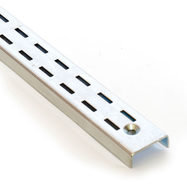 "Double slotted standard 6' long 1/2"" slot 1"" OC 16 gauge"
