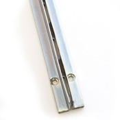 "Concealed/recessed standards 96""long 1""slot 2""oc for 3/4"" panel - zinc finish"
