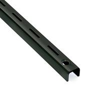 Heavy Duty Standard 8 foot long - Black - 1 inch Slot 2 inch OC