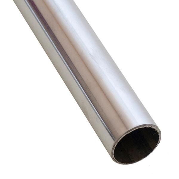"Hangrail 1- 1/4"" round x 6' - chrome"