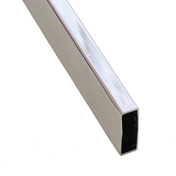 """Hangrail rectangular tube 1-1/2"""" x 8' - chrome"""