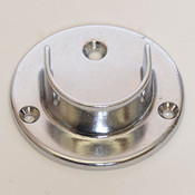 "U-flange for 1-1/4"" round hangrail or pipe - chrome"