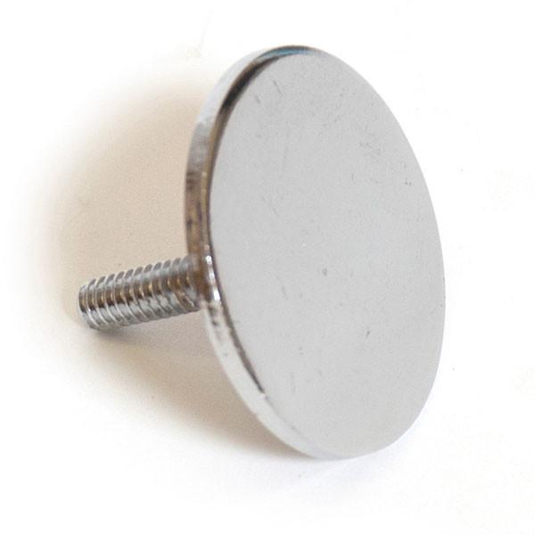 "End cap for 1-1/4"" round hangrail - chrome"