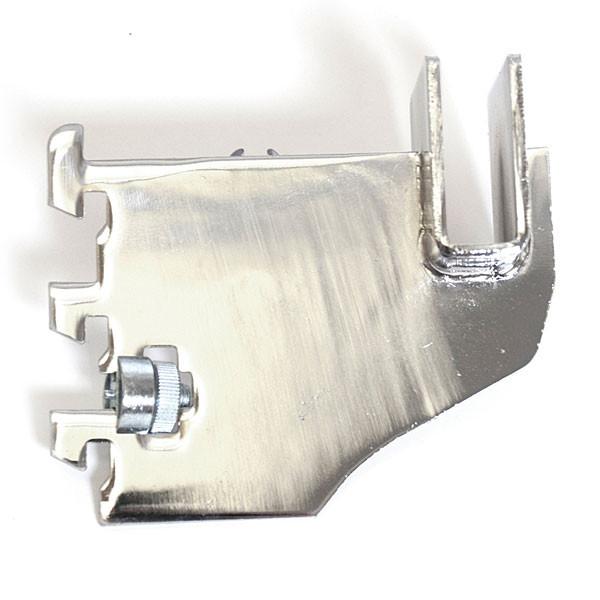 """Hangrail bracket 3"""" for rectangular tube 1/2"""" slot 1"""" OC standards 40 series - chrome"""