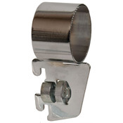 "Hangrail bracket side mount for 1-1/4"" round hangrail 1/2"" slot 1"" OC standards 40 series - chrome"