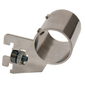 "Hangrail bracket rear mount for 1-1/4"" round hangrail 1/2"" slot 1"" OC standards 40 series - chrome"