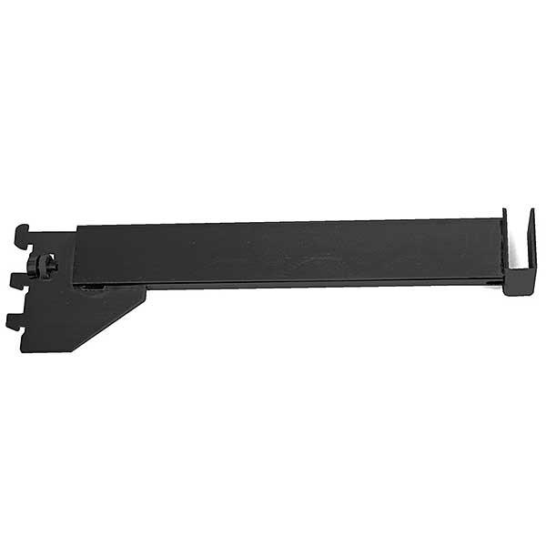12 inch Hangrail bracket for rectangular tube - 1/2 inch slot 1inch OC - Black