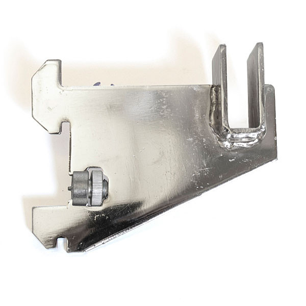 "Hangrail bracket 3"" for rectangular tube 1"" slot 2"" OC standards 70 series - chrome"