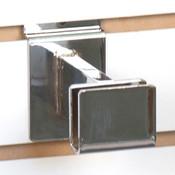 """Slatwall hangrail bracket - 3"""" for 1/2""""x1-1/2"""" rectangular tubing - chrome"""