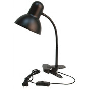Gooseneck light fixture clipon black