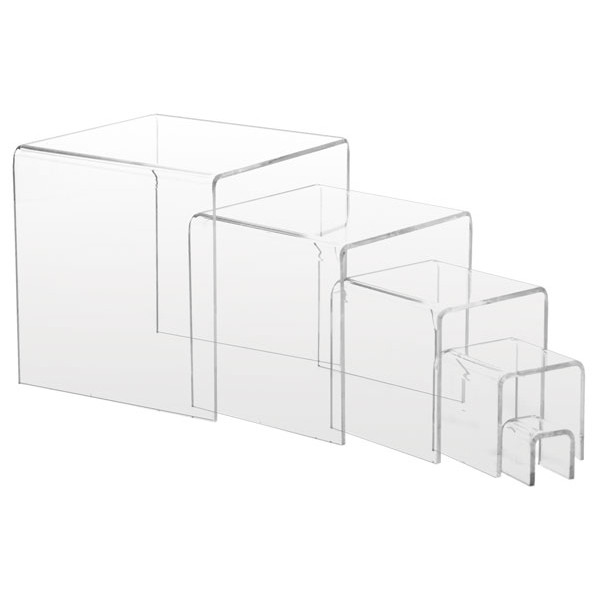 "Acrylic risers - 1"" -5"" high set of 5 - clear"