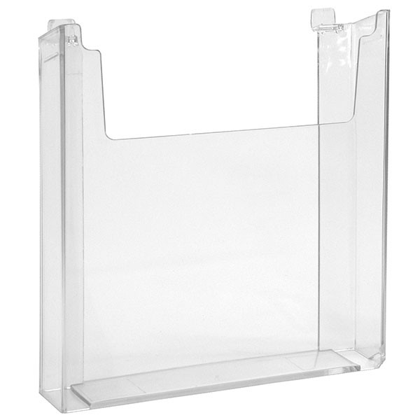"Slatwall literature holder 8-1/2"" w x 11""h molded - clear"