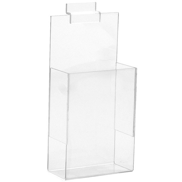 "Slatwall literature holder 4""w x 9""h clear acrylic"