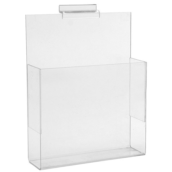 "Slatwall literature holder 8-1/2""w x 11""h clear acrylic"
