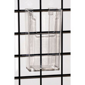 "Gridwall literature holder 4""x9"" molded - clear"