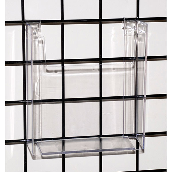 "Gridwall literature holder 8-1/2""x11"" molded - clear"