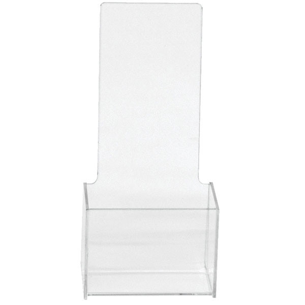 """Literature holder counter top 4""""x9"""" molded - clear"""