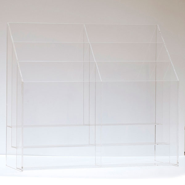 """Literature holder counter top 8-1/2""""x11"""" - 6-pocket clear acrylic"""
