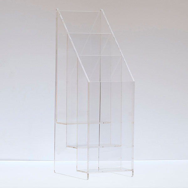 """Literature holder counter top 4""""x9"""" - 3-tier/pocket clear acrylic"""