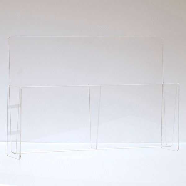 """Literature holder counter top 8-1/2""""x11"""" - double pocket clear acrylic"""