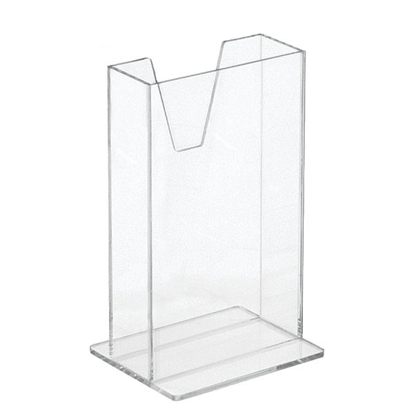"""Literature holder counter top 4""""x7"""" - clear acrylic"""