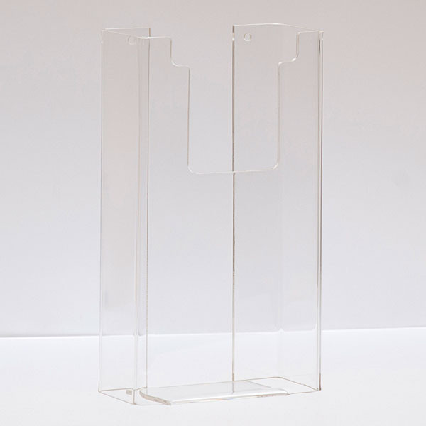 "Literature holder wall mount 4""x9"" - clear acrylic"