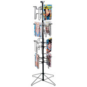 "Literature holder 16 pocket floor-standing displayer with 8-1/2""x11"" pockets 1""deep"