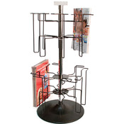 2-Tier countertop literature display Black