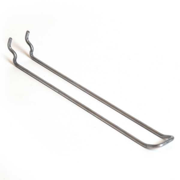 """Pegboard loop hook 10"""" - zinc"""