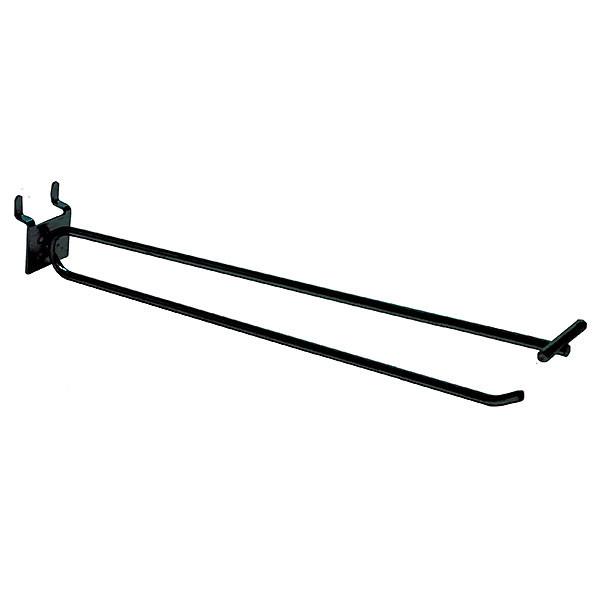 Pegboard scanner hook 10 inch - black