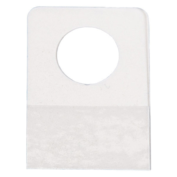 """Merchandise hang tab with round hole 7/8""""w x 1-1/4""""h - clear 100/pack"""